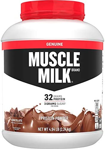 Muscle Milk Genuine Protein Powder, Chocolate, 32g Protein, 4.94 Pound, 32 Servings
