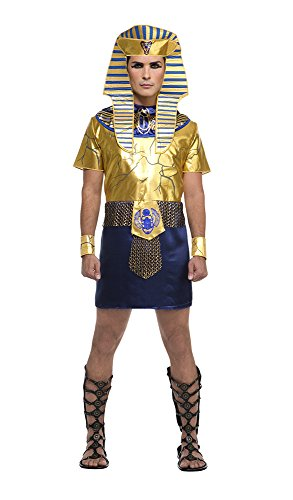 [Palamon Men's Egyptian Pharaoh Costume, Gold, X-Large] (Ancient Egypt Costumes)