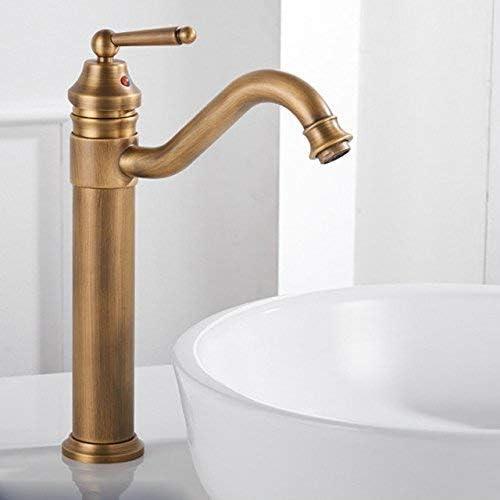 BXU-BG 蛇口流域ミキサータップ滝の蛇口アンティーク浴室冷たい水の蛇口の金・銀・銅のホットバスルームに座ってキッチンと冷たい混合水栓アンティーク