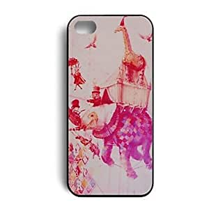 ZXC The Giraffe Was Carrying By A Elephant Hard Plastic Back Case Cover Skin for iPhone 5/5S