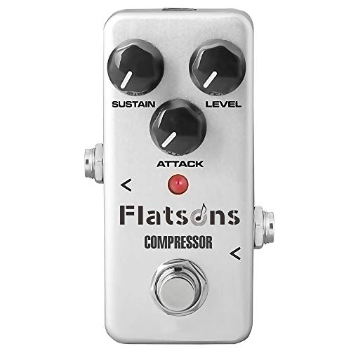 Flatsons Guitar Effect Pedal Dynamic Compressor Mini Effect Processor Fully