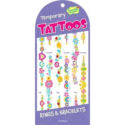 Peaceable Kingdom Rings and Bracelets Temporary Tattoos Mindware 4204927