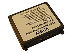 vhbw Li-Ion batería 850mAh (7.2V) para cámara cámara de vídeo Panasonic SDR-S100, SDR-S100EG-S, SDR-S150, SDR-S150EG-S por CGA-S303, CGA-S303E.