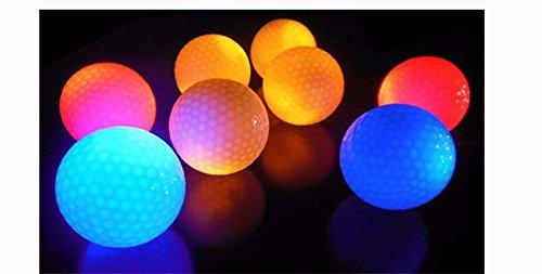 CRESTGOLF 4pcs per pack Hi-Q USGA Led Golf Balls for night training Luxury Golf Practice Balls with 6 - Sunglasses Dame Notre Oakley