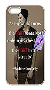iPhone 5& 5S Cases, Perfect Pattern * Machine Gun Kelly * flexible Slim Case Cover for iPhone 5& 5S.