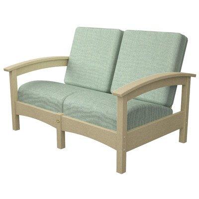 Polywood TXC47SC-5413 Deep Seating Settee, Sand Castle/Spa