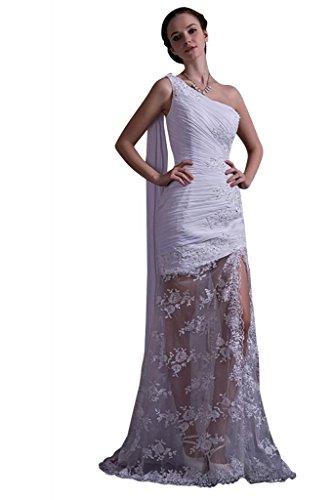 GEORGE Elfenbein Brautkleider Spitze Schulter ein Hochzeitskleid Neu Hochzeitskleider Abendkleid Chiffon Laessige BRIDE qqHaB
