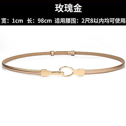 YXLMZ Cinturón de Mujer Piel Cinturón Ancho Elástico Cristal Decoración  Nupcial Boda Dorado 55cm-93cm ba82907788e6