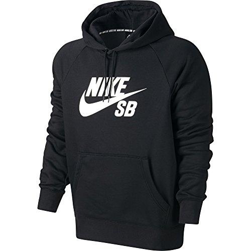 Nike Mens SB Icon Logo Pull Over Hooded Sweatshirt Black/...