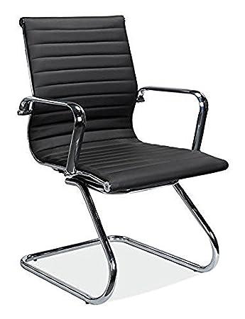 amazon com officesource nova series mid back modern guest chair