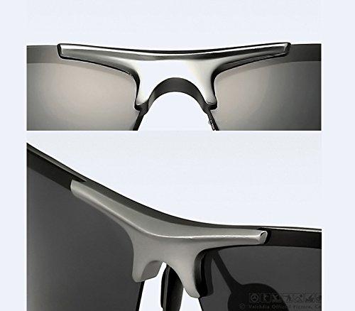 revestimiento deportes hombres conducción Gafas Aluminio polarizadas macho gafas de Magnesio sol de axBXaS