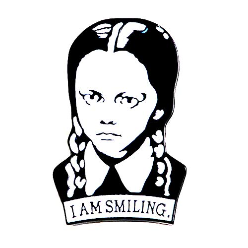 Udolove Women Enamel Lapel Pin Set Badge Pins for Girls Jackets Backpacks Jewelry (Wednesday Addams)]()