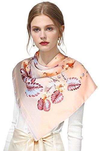 Printed Silk Square Scarf (OSCAR ROSSA 100% Silk Scarf, 35