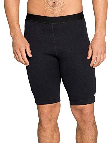 Delfin Spa Men's Heat Maximizing Neoprene Fitness Compression Shorts, Black, X-Large