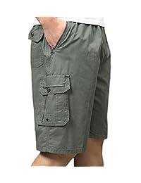 LIVEINU Men's Casual Short Cotton Cargo Shorts Beach Shorts Summer Big & Tall