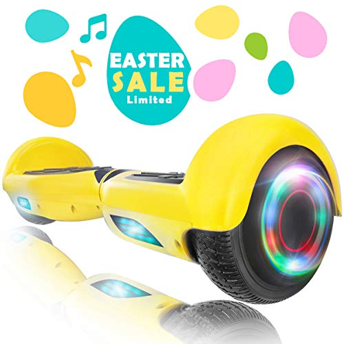 XPRIT Easter Sale Hoverboard w/Bluetooth Speaker (Yellow)