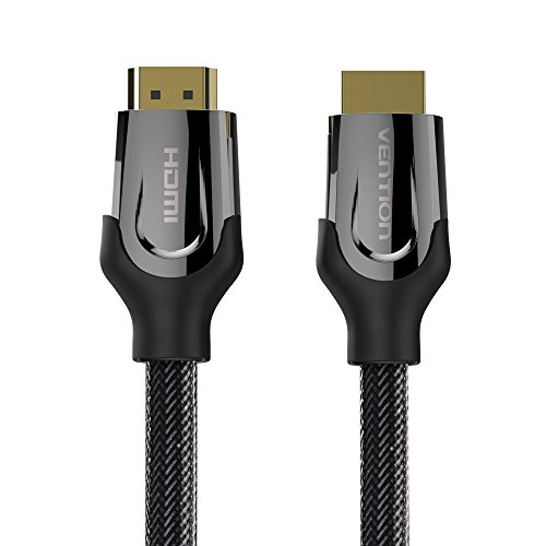 Price comparison product image Vention 16ft 2.0V HDMI Cable Adapter HDMI to HDMI Braided Cable HDMI 4K 3D Cable for HD TV LCD Laptop PS3 Projector Computer 5M