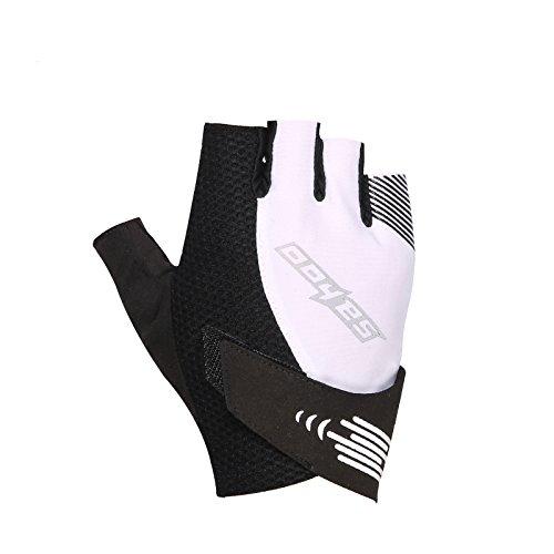 Tofern Spring / Summer Professional指なしサイクリング手袋ゲルパッド入りスポーツグローブ釣り手袋anti-shocking通気性軽量 ホワイト   B072N54Q2K