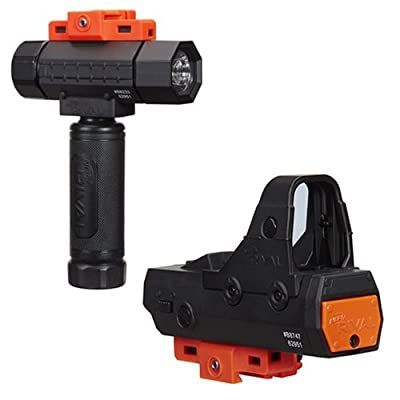 NER Rival Flashlight and NER Rival RED DOT Sight Set of 2: Toys & Games