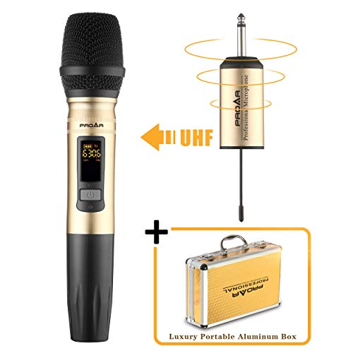 PROAR Professional UHF Handheld Wireless Microphone Set With Portable Receiver (Single