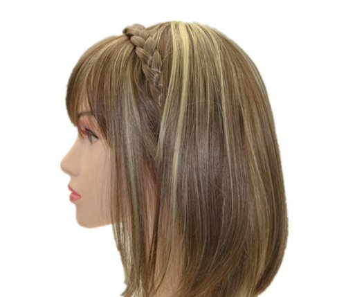 Uniwigs Hair Braids Braided Headband Light Brown Color with Clips for Fashion Women By Appearanz ()
