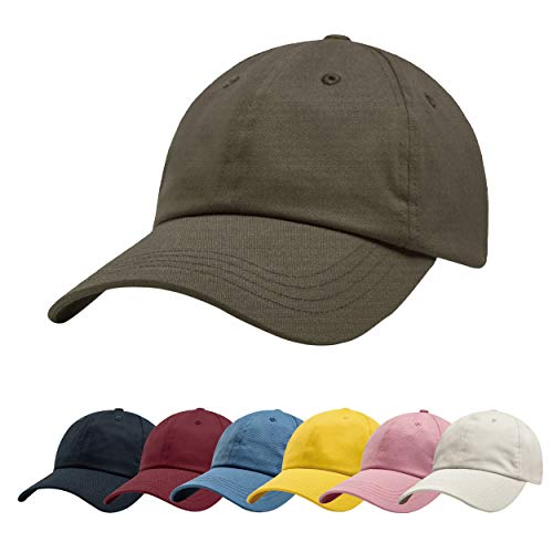 ZOWYA Classic Cotton Plain Baseball Cap-Dad Hat-Polo Cap-Casual Cap-Unisex-Adjustable Size-Unstructured-Soft Cub