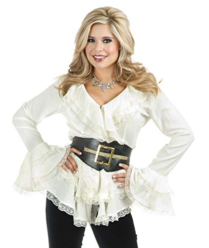 Charades Women's South Sea's Blouse with Belt, Off Off White, X-Small ()