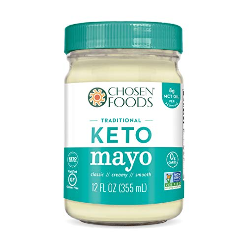 Chosen Foods Traditional Keto Mayo 12 oz. (6 Pack), Non-GMO, Gluten Free, Dairy Free for Sandwiches, Dressings, Sauces and Recipes