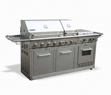 Amazon Com Jenn Air Deluxe Outdoor Gas Kitchen Grill Oven Stainless