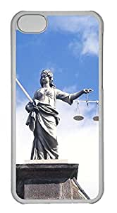 Customized iphone 5C PC Transparent Case - Statue Cover