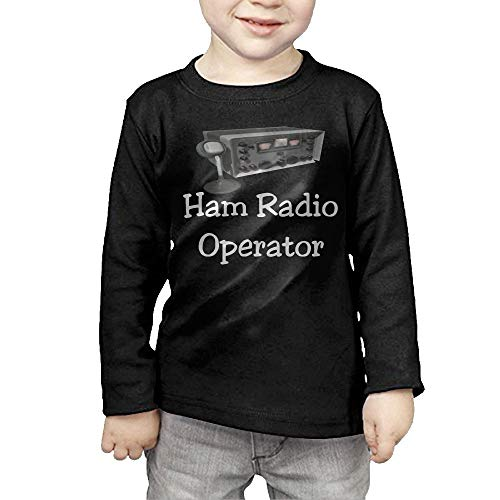 Fryhyu8 Baby Boys Children's Ham Radio Operator Printed Long Sleeve 100% Cotton Infants - Sweater Operator