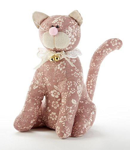 Delton Products Cat 11 Inches Door Stop wth Lace Collar Pink