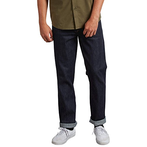 Volcom Men's Solver Modern Fit Denim Jeans, S Gene Selvedge,