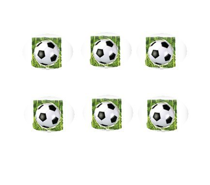 12ct Soccer Ball Green BG Edible 3inch Large Cupcake/Cookie Image Kit by CSShop