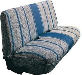 Front Bench Seat Cover - Saddle Blanket Fabric (Blue) ()