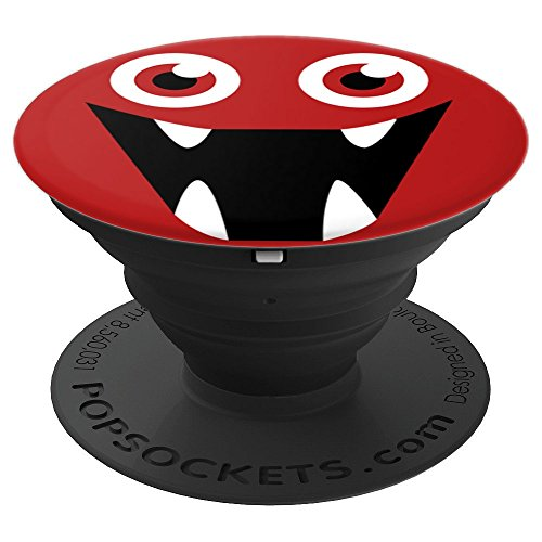 Eyeball Funny Monster Face Graphic Halloween Costume Gift - PopSockets Grip and Stand for Phones and Tablets -
