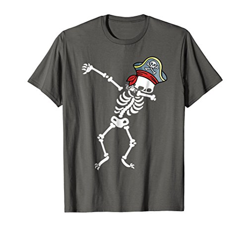 Mens Dabbing Skeleton With Pirate's Hat T-shirt Large (Halloween Pirate Man)