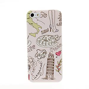 Piaopiao Italy Leaning Tower of Pisa Pattern Plastic Hard Case for iPhone 5/5S
