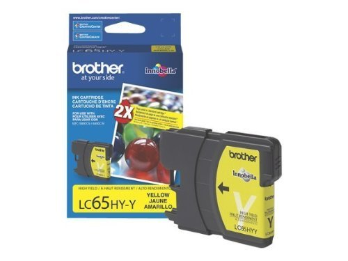 (Brother LC65HYY High-Yield Ink Cartridge, 750 Page-Yield, Yellow)