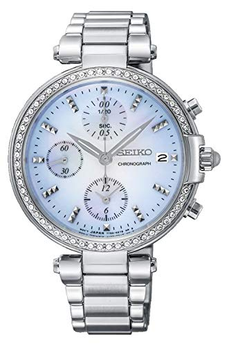 Seiko Reloj cronografo para Mujer de Cuarzo con Correa en Acero Inoxidable SNDV39P1