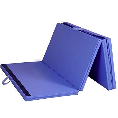 Blue 4'x8'x2'' Gymnastics Mat Thick Folding Panel Gym Fitness Exercise Mat TKT-11 by TKT-11
