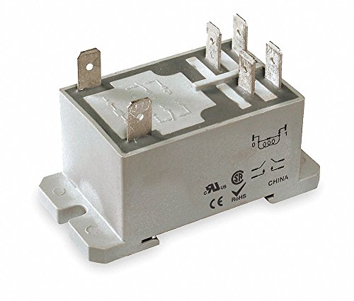Dayton 1EJH6 Relay, Power, DPST-NO, 24VAC, Coil (Dpst Relay)