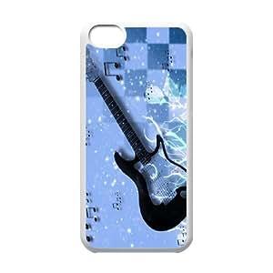 [H-DIY CASE] For Iphone 5c -Love Guitar Pattern-CASE-4