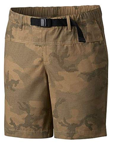 Columbia Women's Shellrock Springs Shorts Omni-Shield Hiking Trailing Water Repellent, UPF 30, Crosshatch Camo, 8