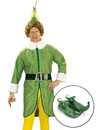 Buddy The Elf Outfit - Rubie's Buddy The Elf Adult Standard