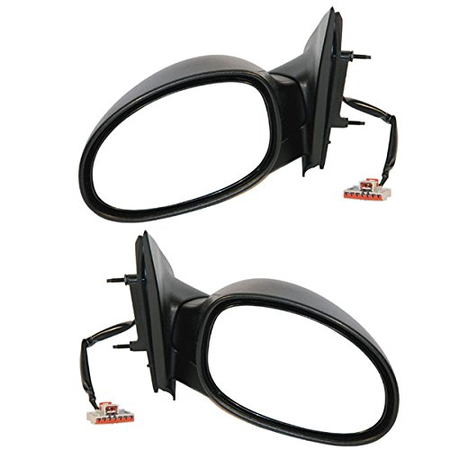 Koolzap For 00 01 02 Neon Power Non-Heated Rear View Folding Mirror Left Right Side Set ()