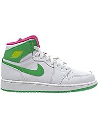 best website 9fc44 4da7c Air Jordan 1 Retro High GG Big Kid s Shoes White Gamma Green Vivid  Pink Cyber 332148-134