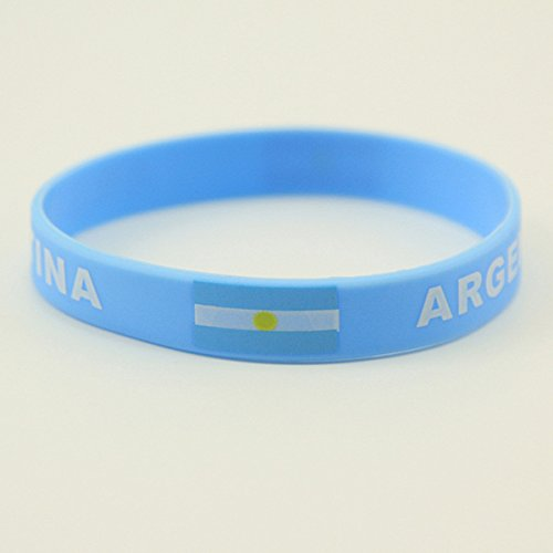 yigooood Russia 2018ワールドカップブレスレットサッカーファンアクセサリーシリコンブレスレットサッカーCheerleading Supplies B07C9CGG6Qアルゼンチン(Argentina)
