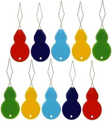 Enhebrador de agujas de plástico, 100 piezas en forma de calabaza ...