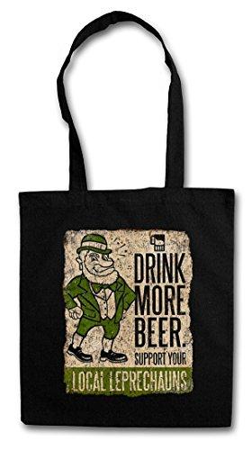 DRINK MORE BEER FUN HIPSTER BAG �?diablillo cerveza Irlanda irlandés irish Support your local Leprechauns Ireland
